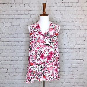 Violet & Claire Floral Print Sleeveless Top